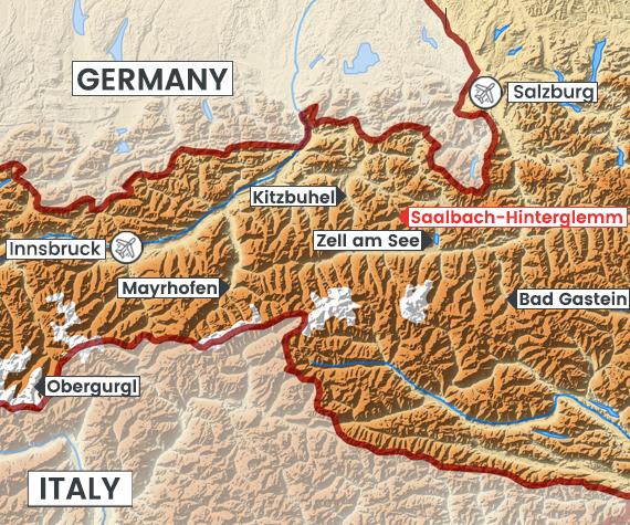 Saalbach-Hinterglemm map