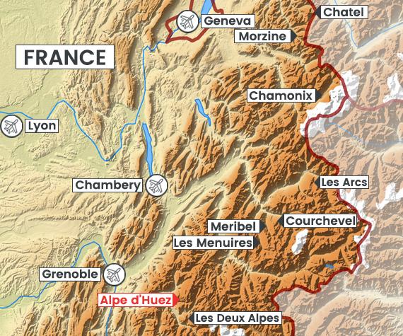 Alpe d'Huez map