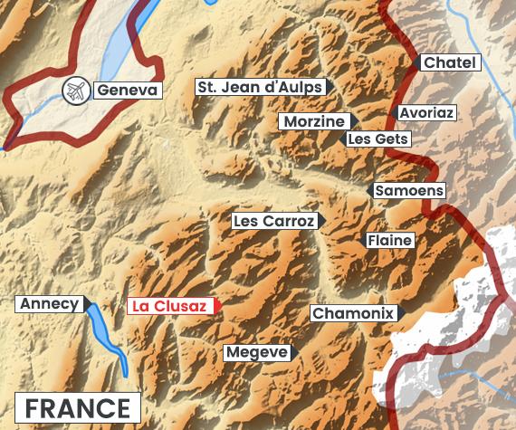 La Clusaz map