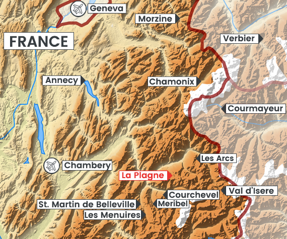 La Plagne map