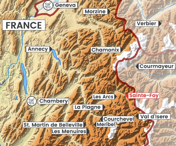 Sainte-Foy-Tarentaise map
