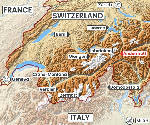 Andermatt map