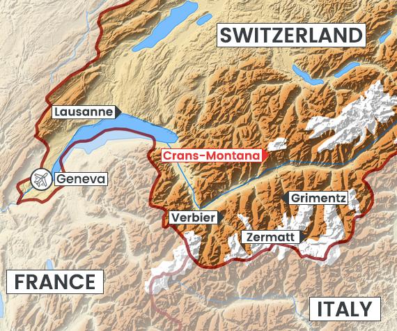 Crans-Montana map