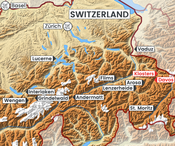 Davos-Klosters map
