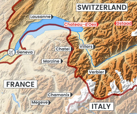 Gstaad Valley map