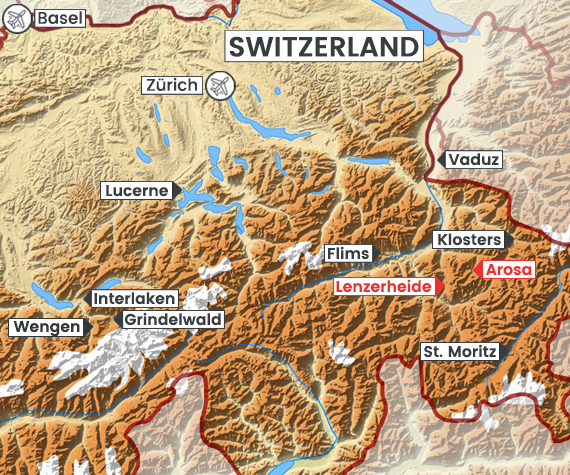 Lenzerheide-Arosa map