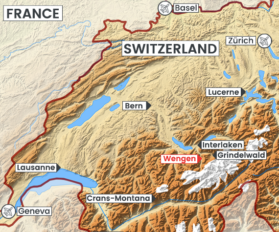 Wengen map